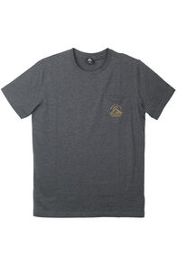 Macpac Pocket Organic Cotton Tee - Men's, Charcoal Marle, hi-res