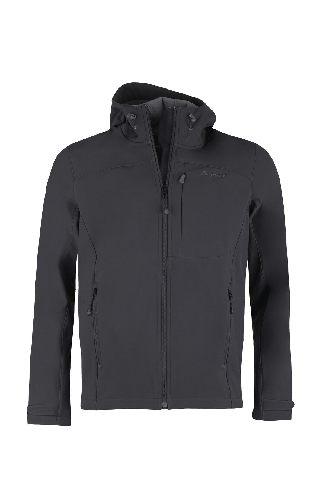 Macpac Sabre Hooded Softshell Jacket - Men's, Black, hi-res