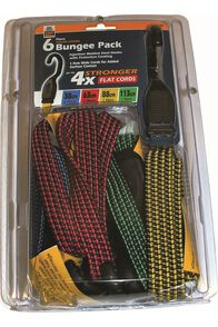Gripwell 6 Pack Flat Bungee Strap, None, hi-res
