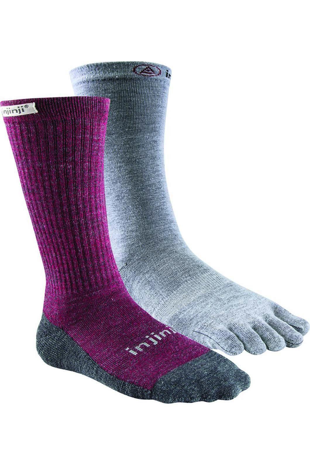 Injinji Women's Hiker and Sock Liner, MAROON, hi-res
