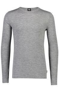 Macpac Men's 220 Merino Long Sleeve Top, Grey Marle, hi-res