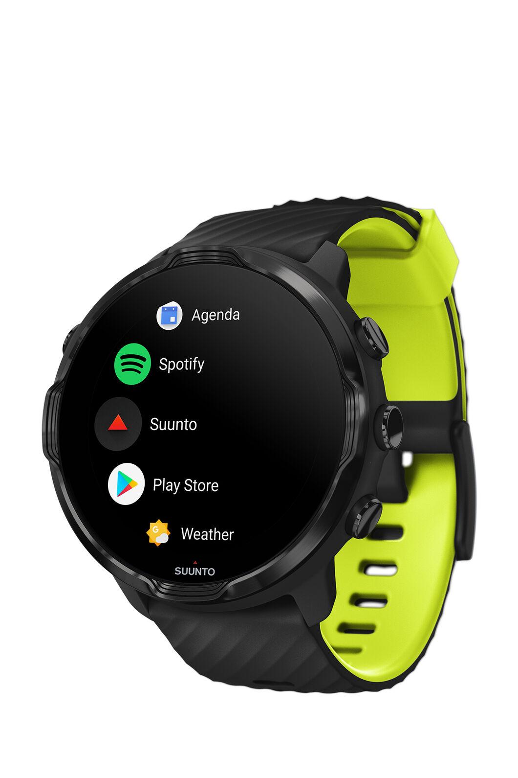 Suunto 7 GPS Sports Watch, Black/Lime, hi-res