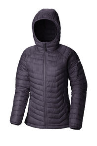 Columbia Powder Lite Hooded Jacket - Women's, Dark Plum Stars Print, hi-res