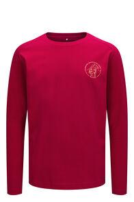 Macpac Kids' Since 1973 Long Sleeve Tee, Persian Red, hi-res