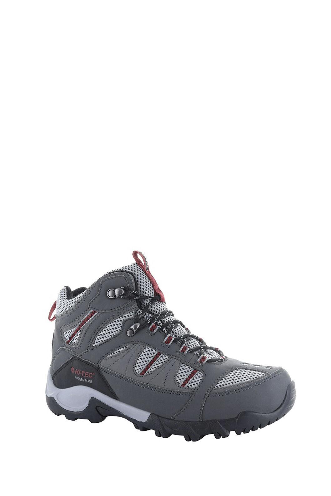 Hi-Tec Men's Bryce II Mid WP Hiking Boots, Charcoal/Grey/Fired Brick, hi-res