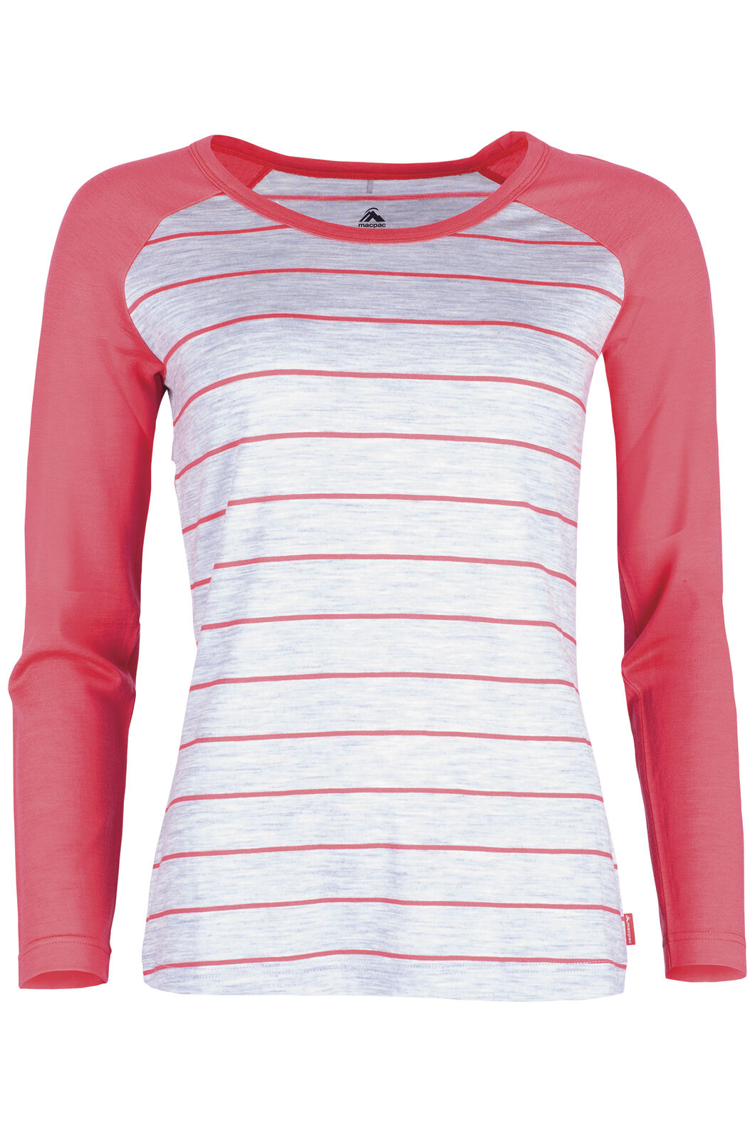 Macpac Victoria 180 Scoop Top Womens, Cayenne Stripe, hi-res