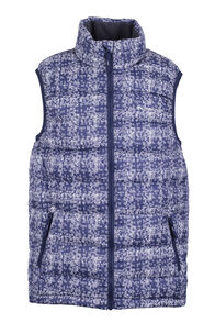 Astro Down Vest - Kids', Black Iris Print, hi-res