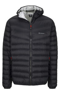 Macpac Mercury Hooded Down Jacket — Men's, Black/High RIse, hi-res
