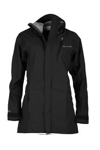 Macpac Copland Long Rain Jacket - Women's, Black, hi-res