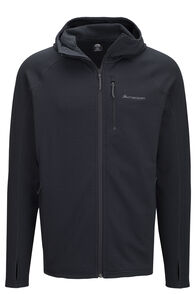 Macpac Men's Ion Polartec® Fleece Hooded Jacket, Black, hi-res