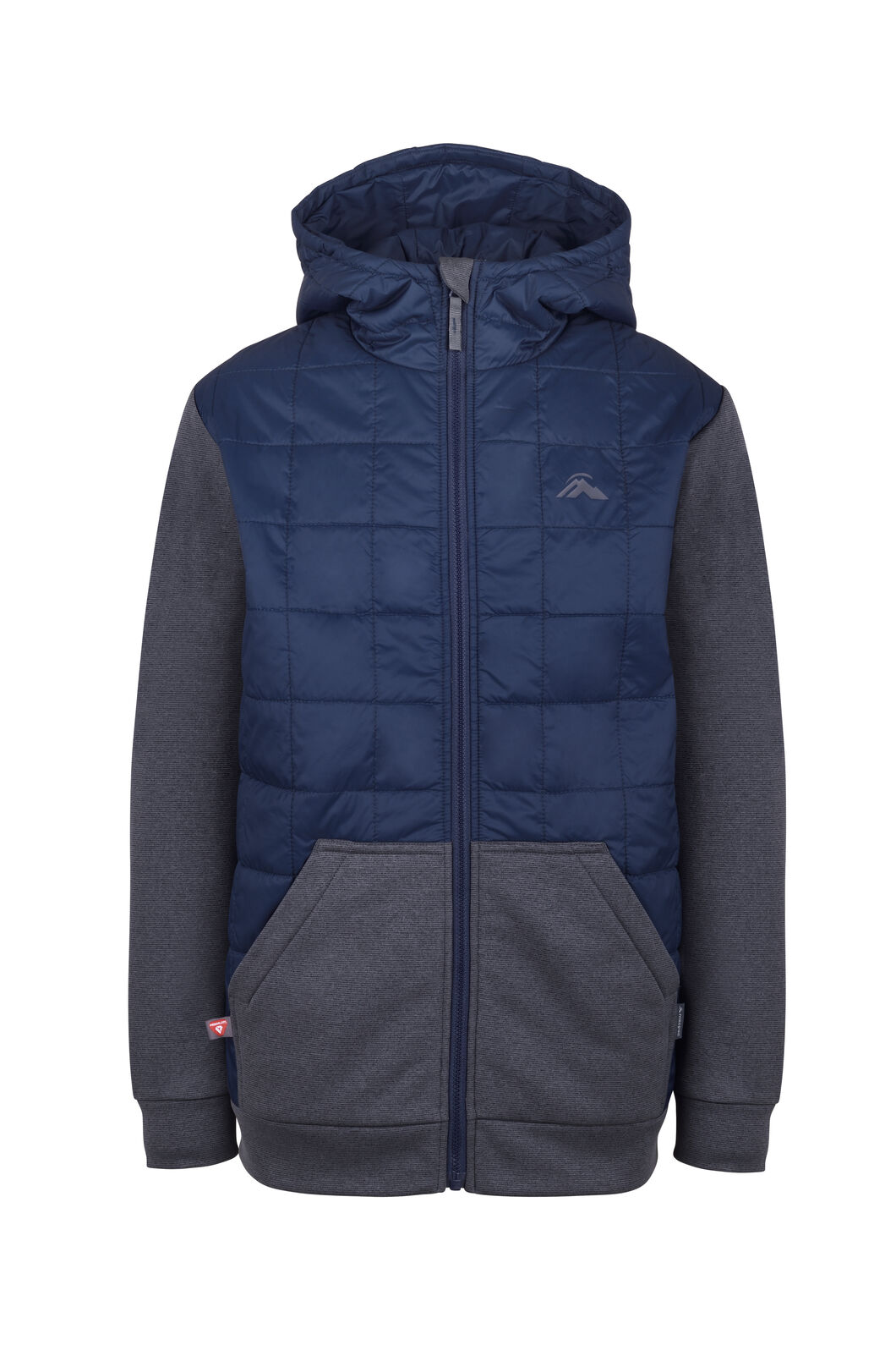 Macpac Campfire PrimaLoft® Hybrid Jacket - Kids', Black Iris/Asphalt, hi-res