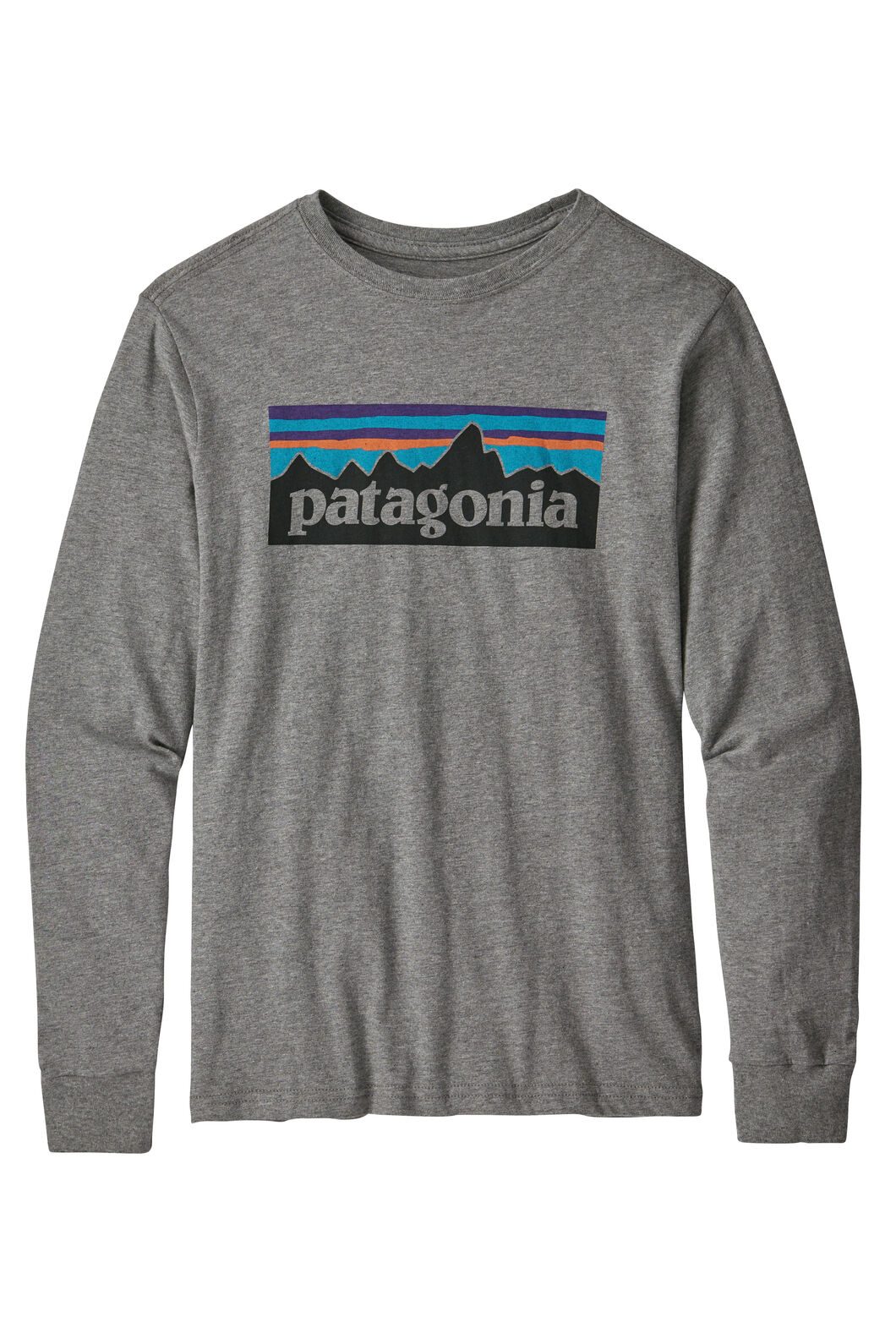 Patagonia L/S Graphic Organic T-Shirt, Grey Heather, hi-res