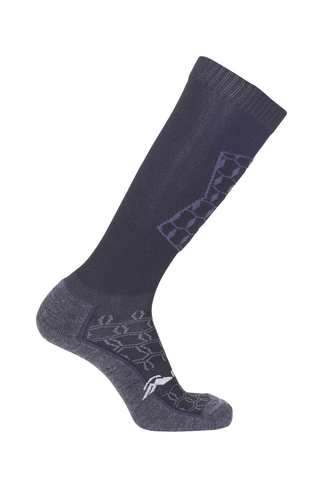 Macpac Tech Ski Socks, Black/Charcoal, hi-res