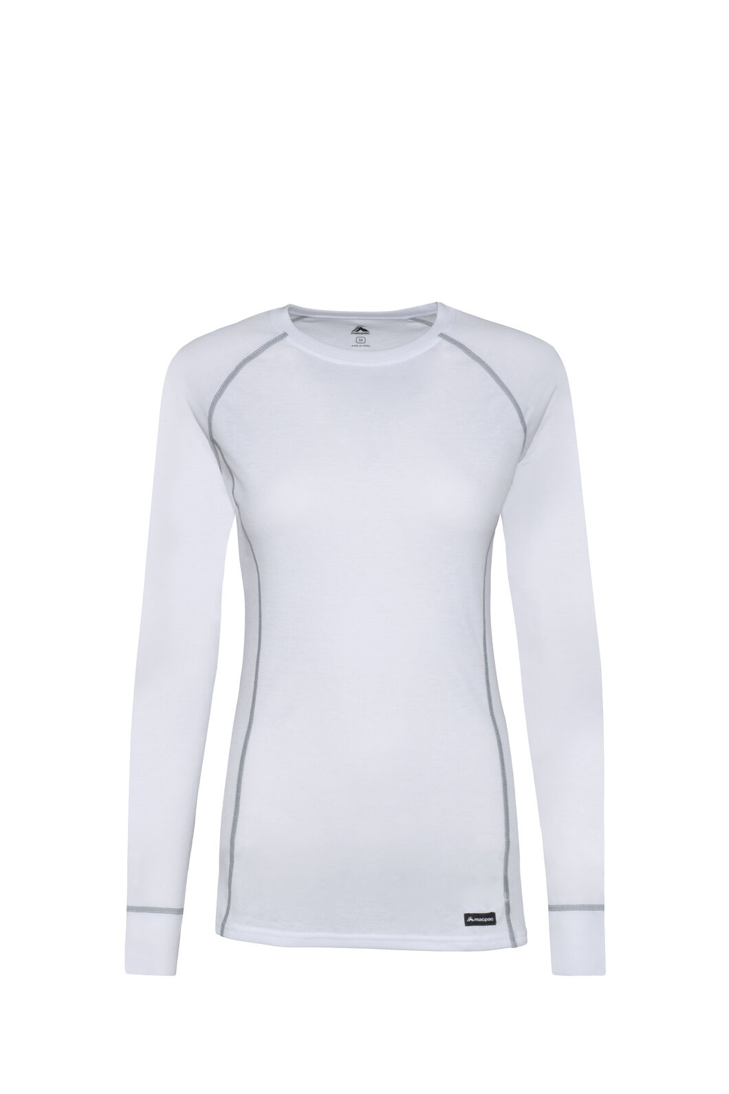 Macpac Geothermal Long Sleeve Top — Women's, White/White, hi-res