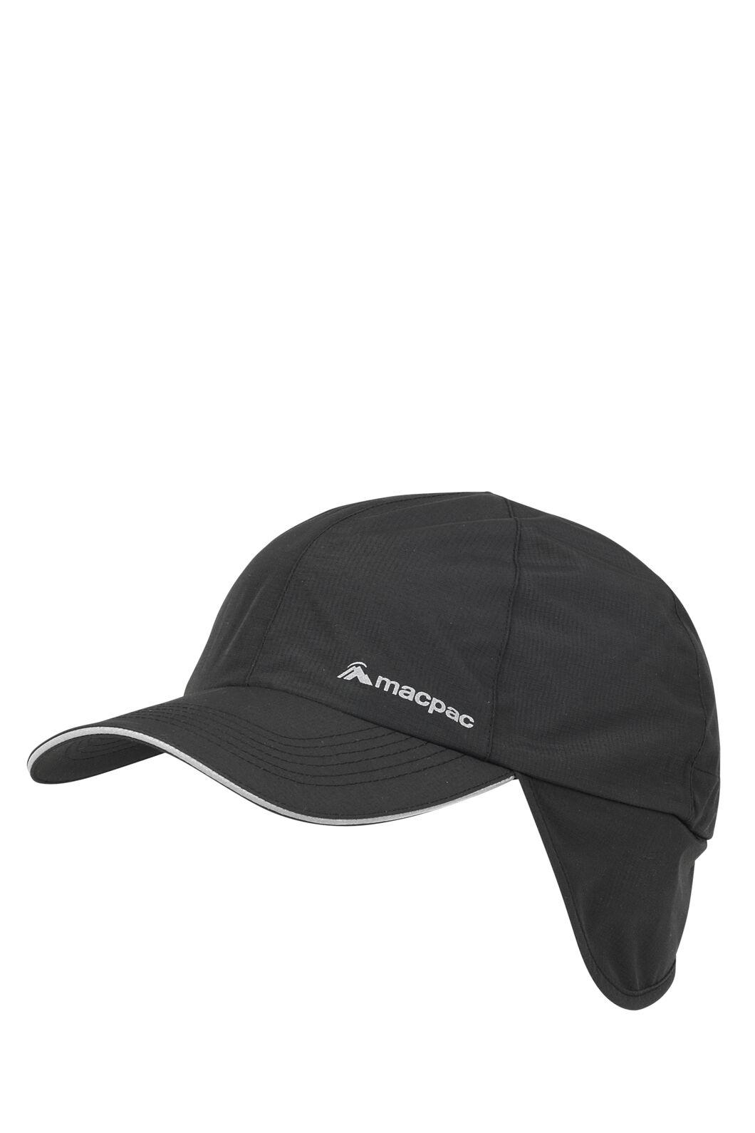 Macpac Waterproof Cap, Black, hi-res