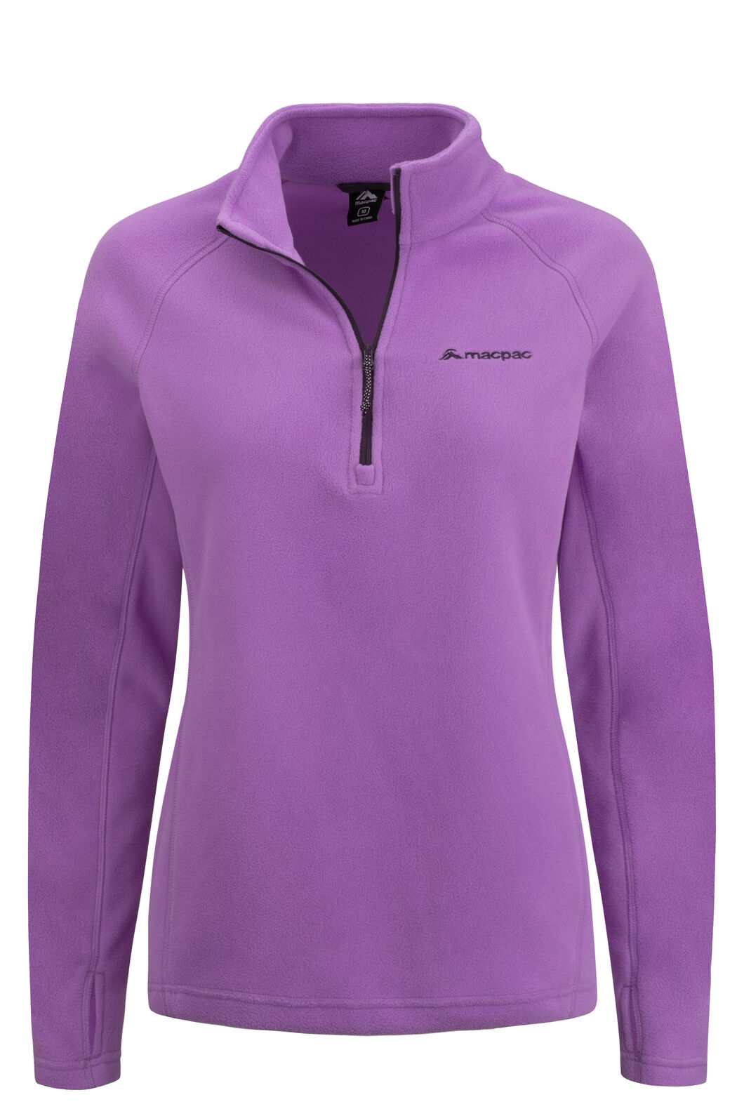 Macpac Women's Tui Polartec® Micro Fleece® Pullover, Hyacinth, hi-res