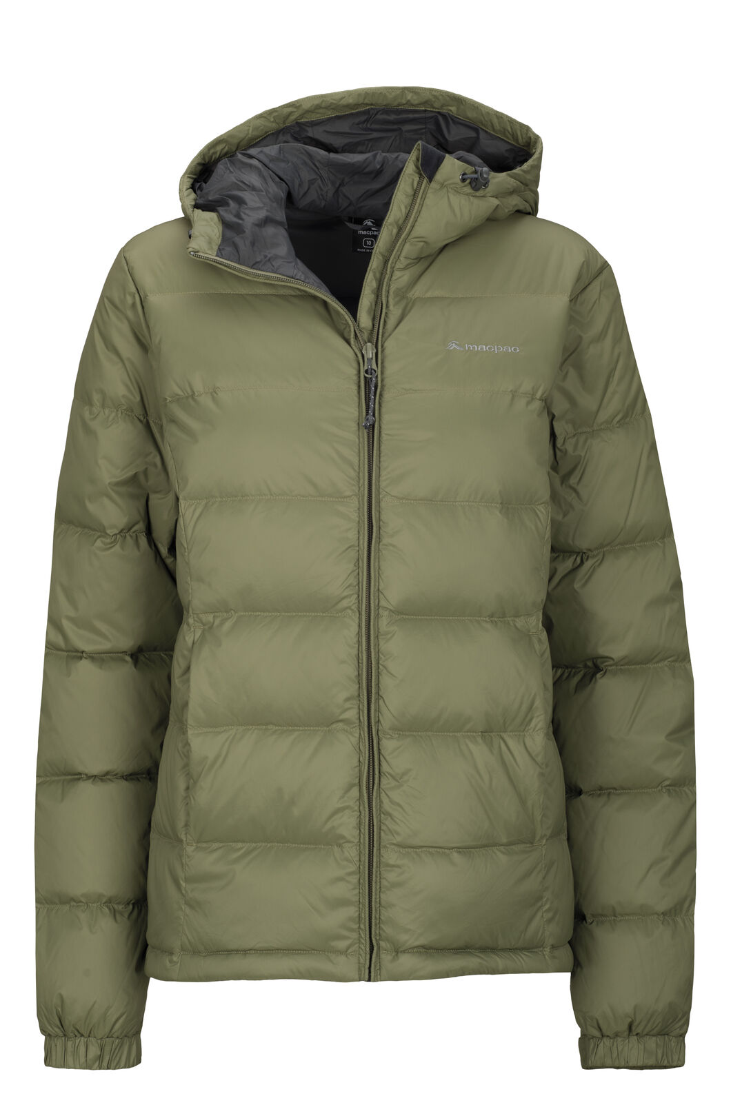 Women's Halo Hooded Down Jacket, Deep Lichen Green, hi-res