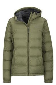 Women's Halo Hooded Down Jacket, Deep Lichen Green, hi-res