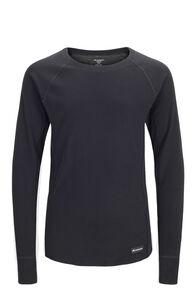 Macpac Kids' Geothermal Long Sleeve Top, Black, hi-res