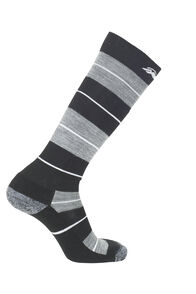 Macpac Merino Ski Socks, Black/Monument, hi-res