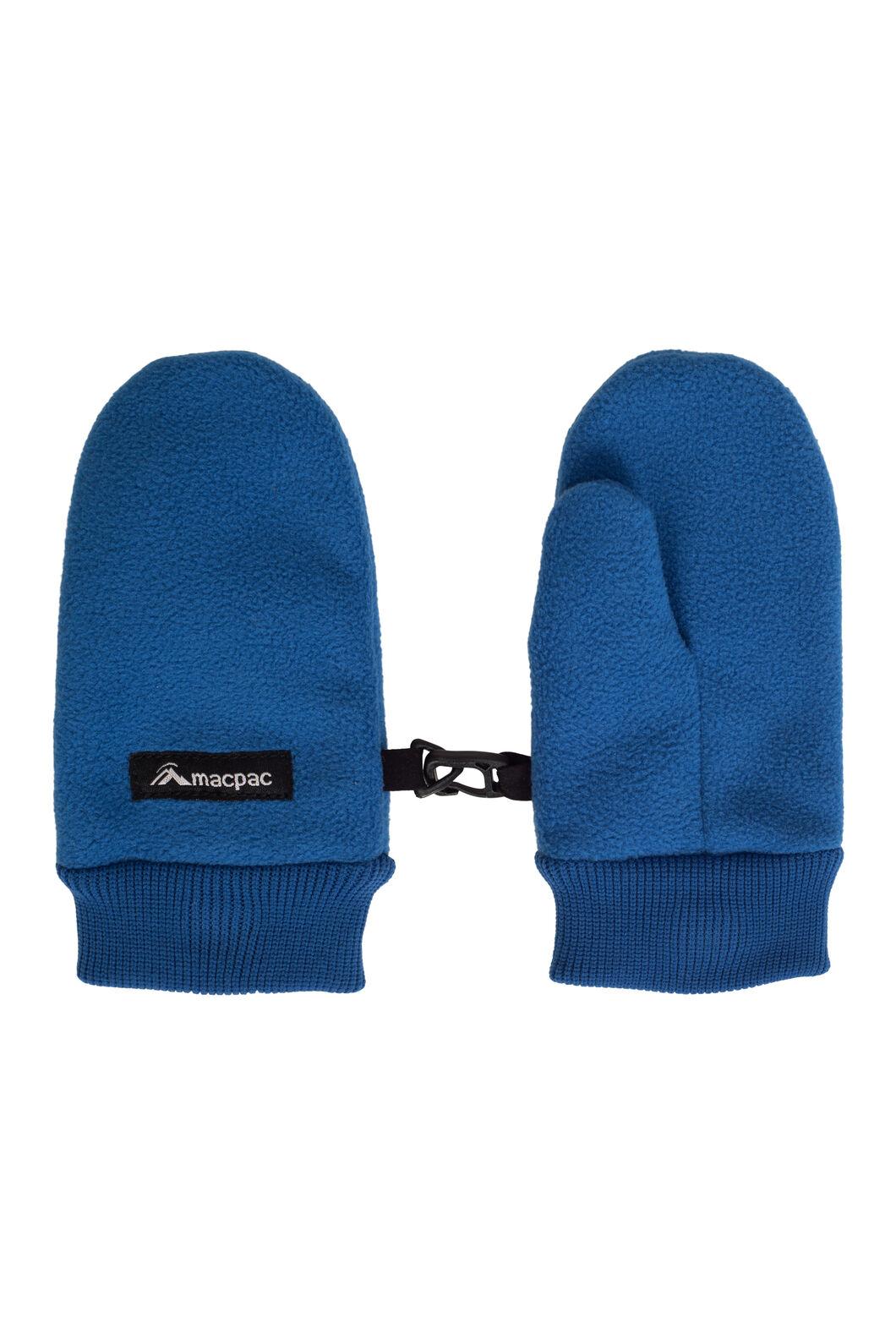 Macpac Kids' Fleece Mittens, Classic Blue, hi-res