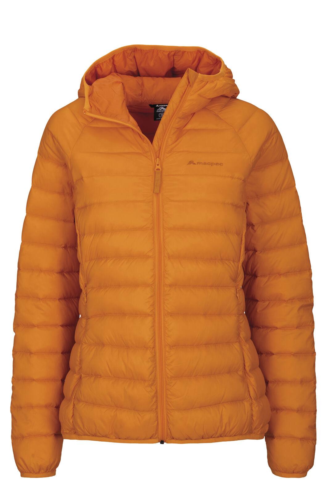 Macpac Uber Light Hooded Down Jacket — Women's, Cadmium Yellow, hi-res