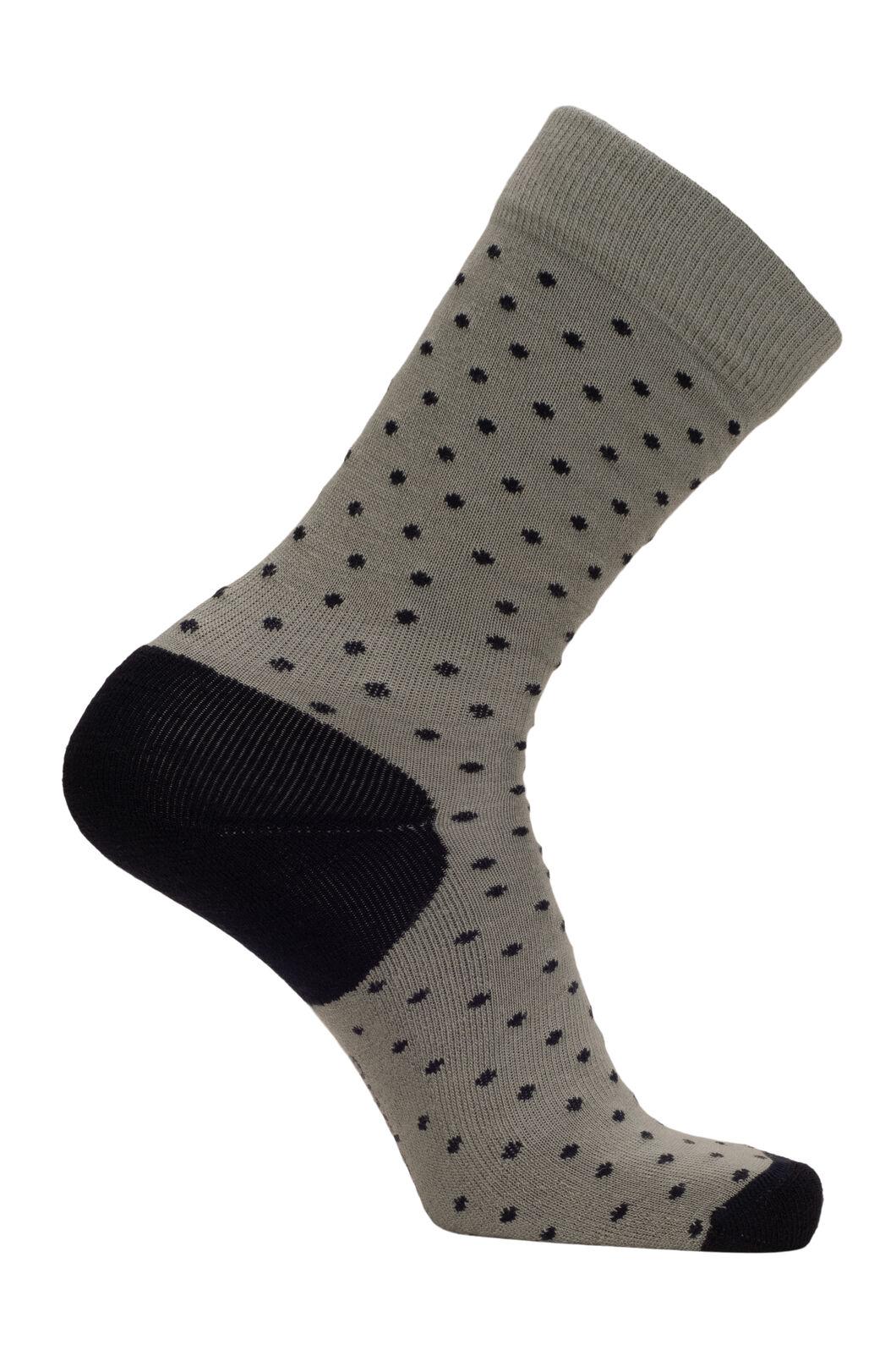 Macpac Merino Blend Footprint Socks, Green Bay Polka, hi-res