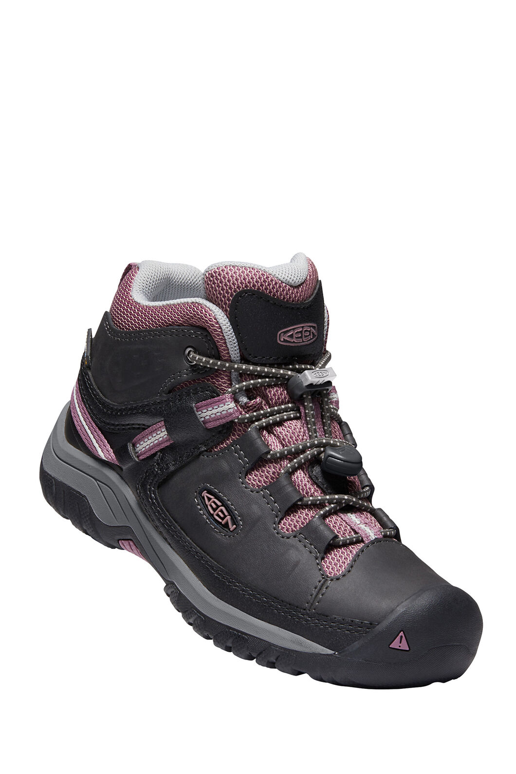KEEN Targhee WP Hiking Boots — Youth, Raven/Tulipwood, hi-res