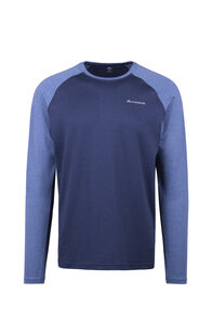 Macpac Eyre Long Sleeve Tee - Men's, Black Iris/True Navy, hi-res