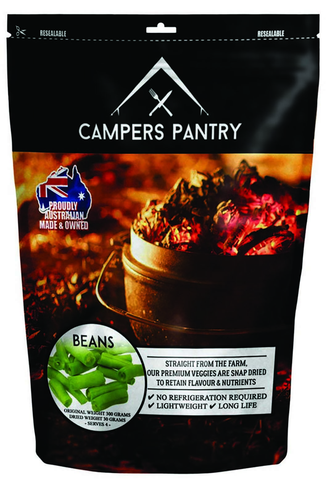 Campers Pantry 30g Dried Beans Freeze Dried Food (1 Serve), None, hi-res
