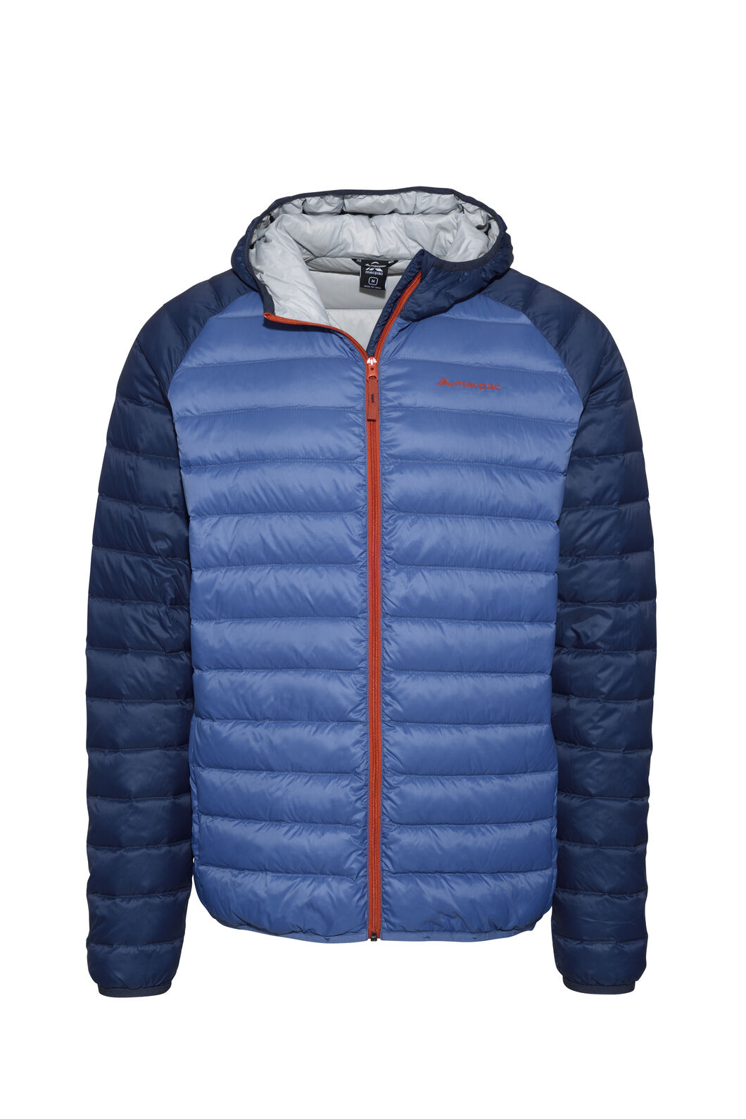 Macpac Uber Hooded Down Jacket - Men's, Black Iris/True Navy, hi-res