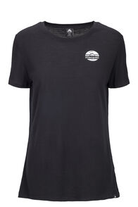Macpac Graphic 180 Merino Tee — Women's, Black, hi-res