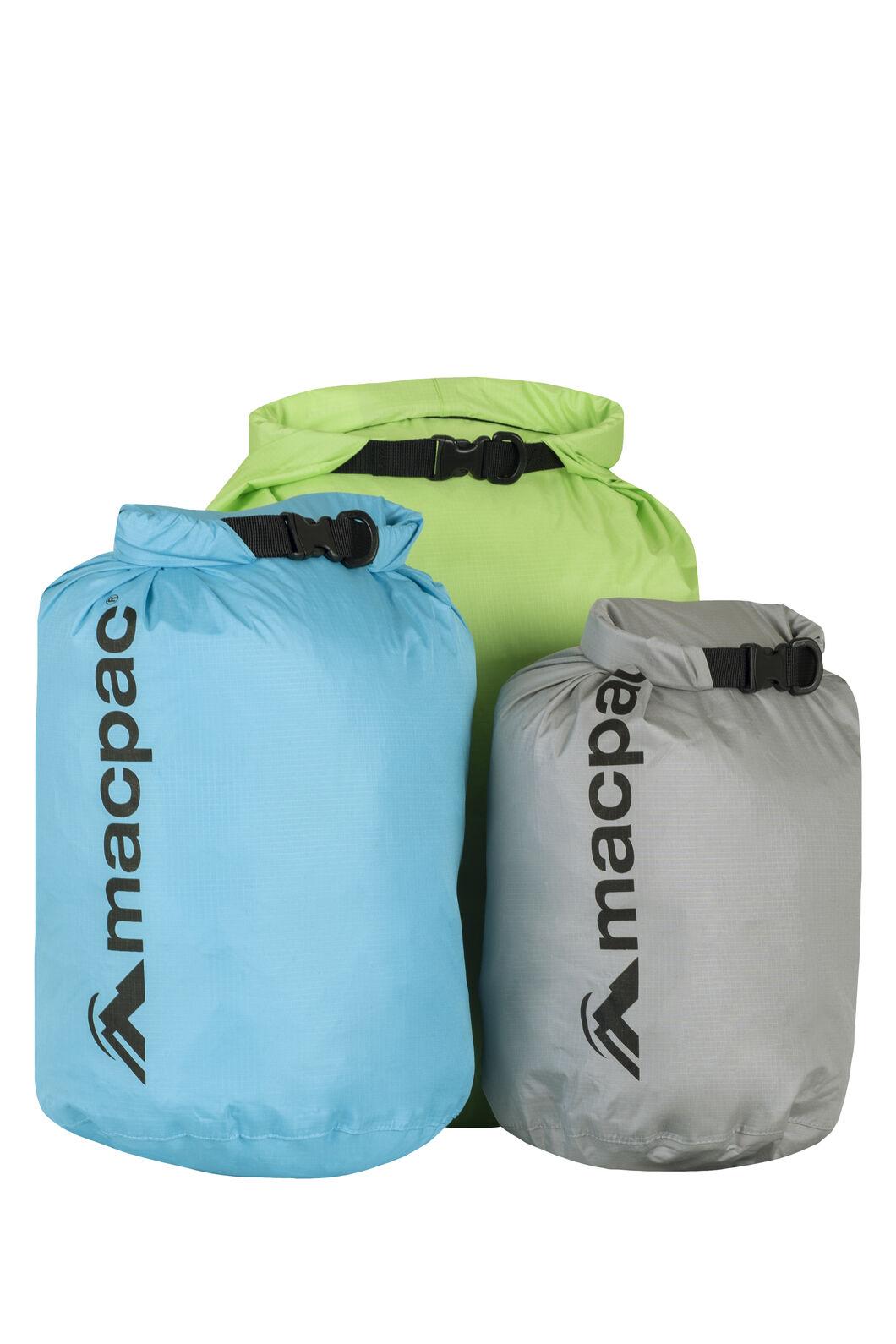 Macpac Lightweight Dry Bags — 3pk 5/10/15L, Multi, hi-res