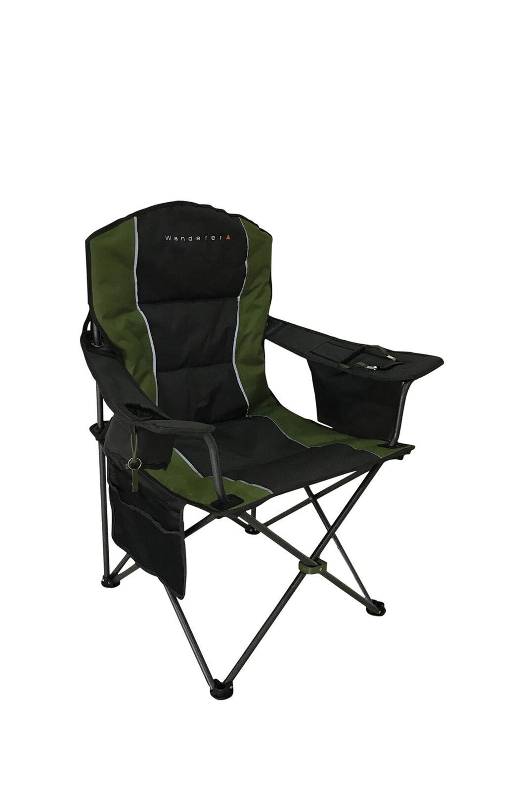 Wanderer Premium Cooler Arm Chair, Charcoal/Khaki, hi-res