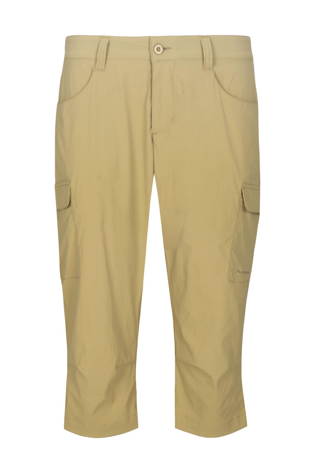 Macpac Women's Drift ¾ Pants, Khaki, hi-res