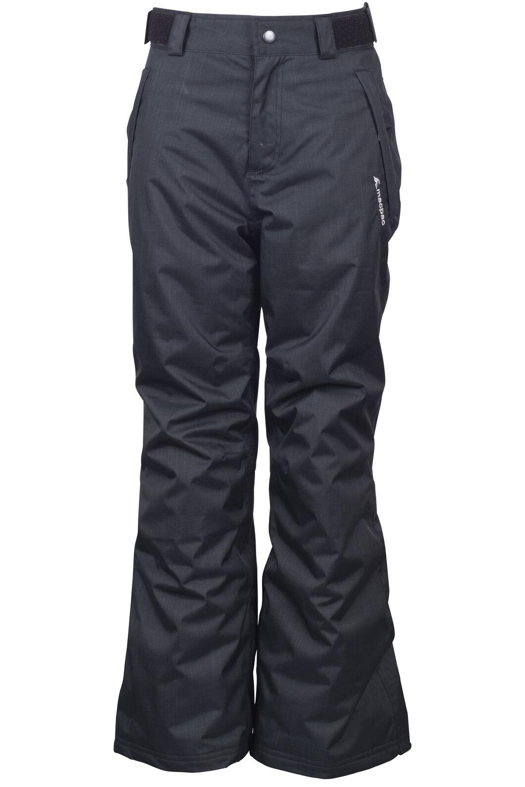 Macpac Powder Reflex™ Ski Pants — Kids', Black, hi-res