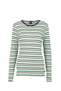 Macpac 220 Merino Top — Women's, Misty Jade/Katydid Stripe, hi-res