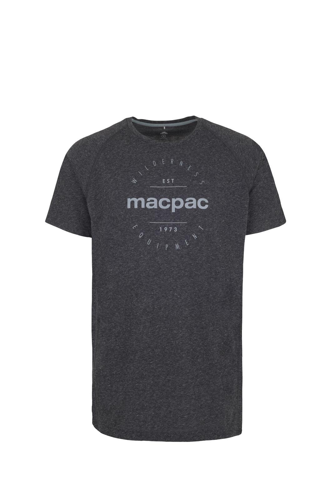 Macpac Polycotton Tee - Men's, Charcoal Marle, hi-res