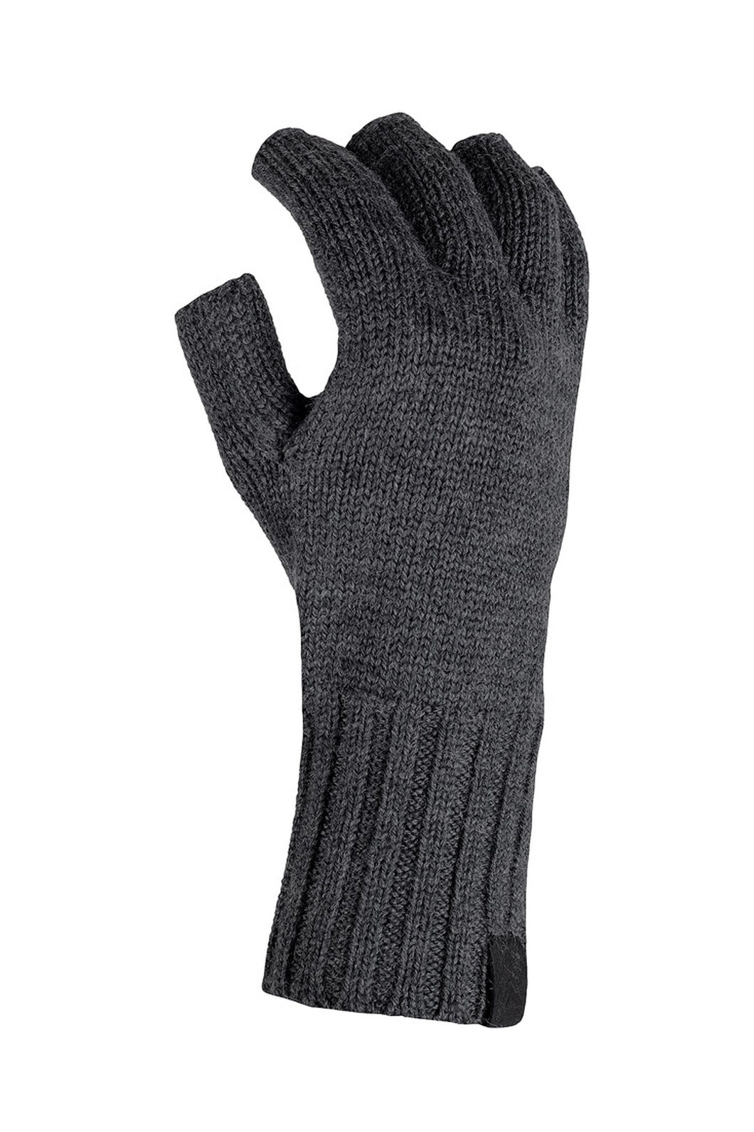 Macpac Merino Fingerless Gloves, Charcoal Marle, hi-res