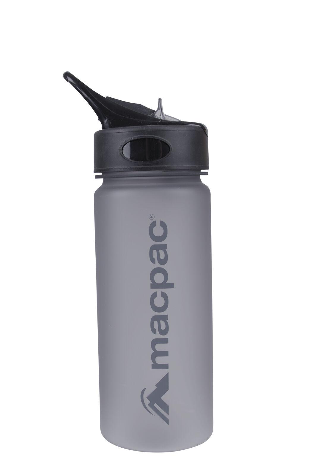 Macpac Flip Top Drink Bottle 550mL, Charcoal, hi-res