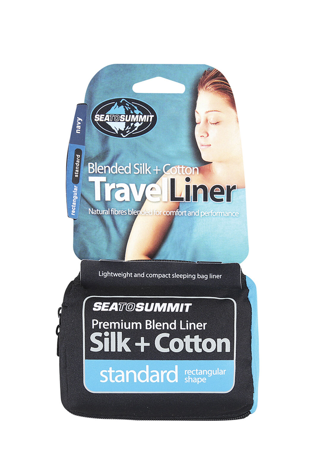 Sea to Summit Standard Rectangle Silk Cotton Liner, None, hi-res