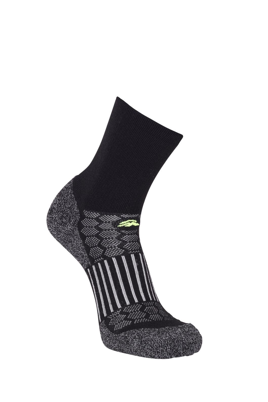 Macpac Tech Merino Hiker Socks, Black, hi-res
