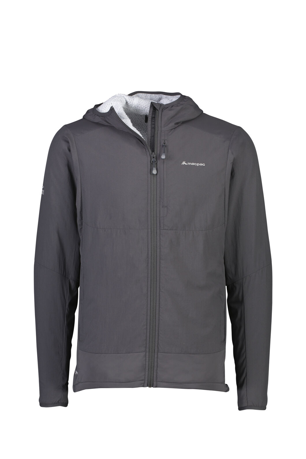 Macpac Pisa Polartec® Hooded Jacket - Men's, Phantom/Pearl, hi-res