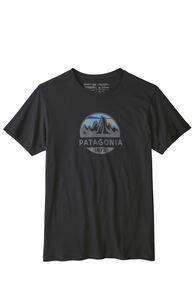 Patagonia Men's Fitz Roy Scope Organic Tee Dolomite, Black, hi-res