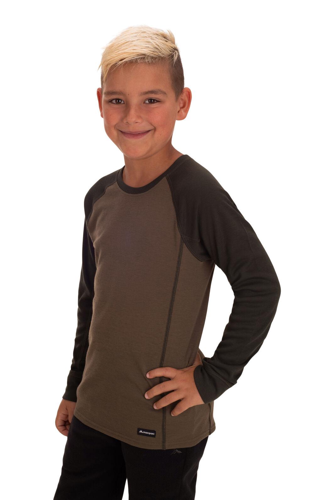 Macpac Kids' Geothermal Long Sleeve Top, Rosin, hi-res