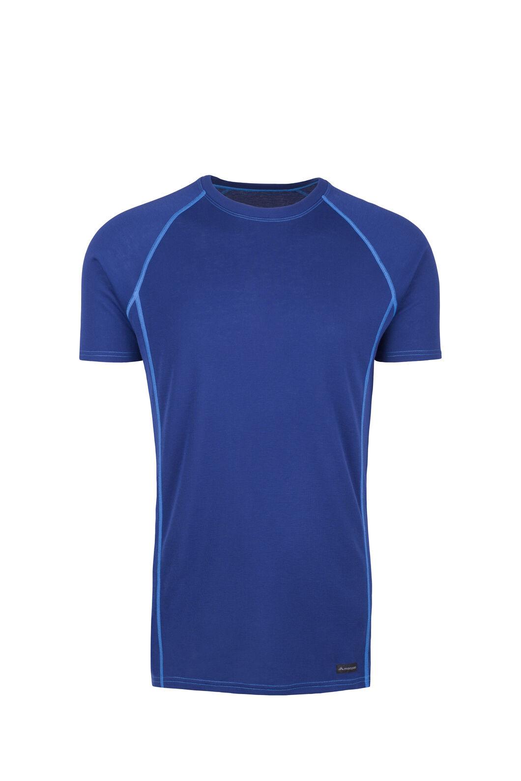 Macpac Geothermal Short Sleeve Top - Men's, Blue Depths/Skydiver, hi-res