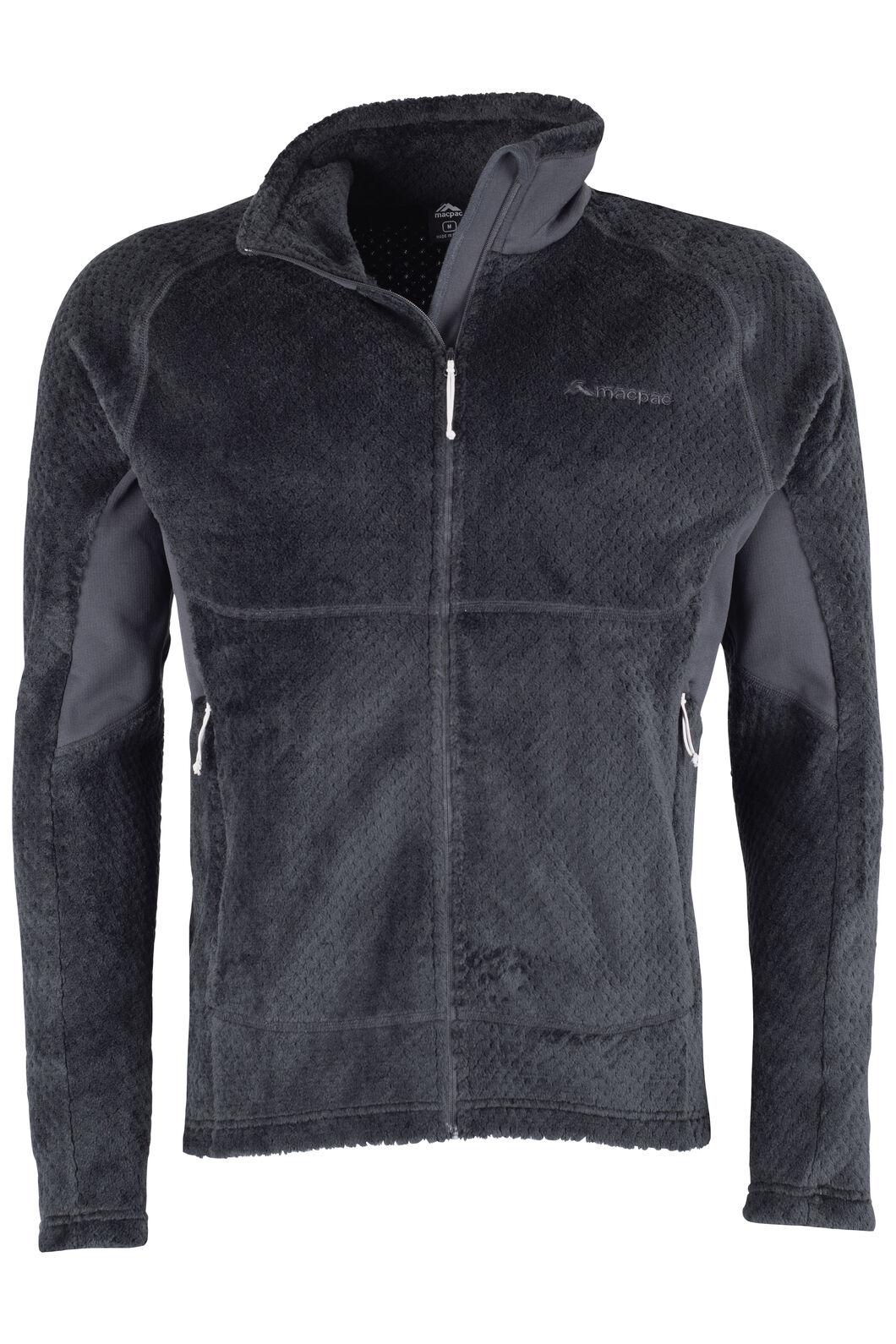 Macpac Pitch Fleece Jacket Mens, Black, hi-res