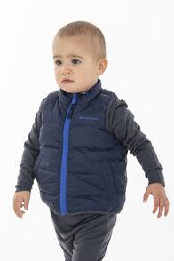 Macpac Atom Down Vest — Baby, Black Iris/Surf The Web, hi-res