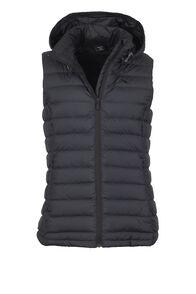 Zodiac Hooded Down Vest - Women's, Black, hi-res