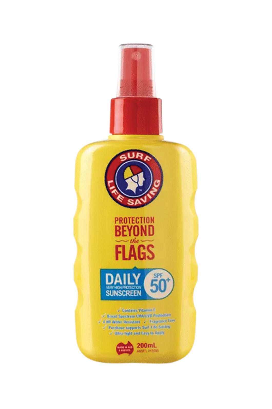 Surf Life Saving 200mL SPF50+ Daily Spray Sunscreen, None, hi-res